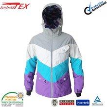 Fashion Nylon waterproof girl's colorful sport and ski wear