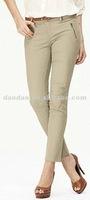 ladies fashion sanding all-match leisure pants Camel color