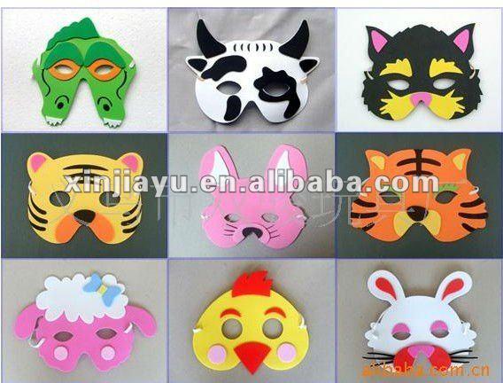 Mascaras con fomi de Halloween - Imagui
