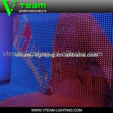 led display decor curtain for wedding hall