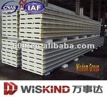 Insulated polyurethane PUR metal sandwich wall panels
