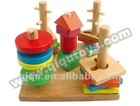 Wooden Intelligence Blocks Toy