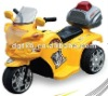 Drive on motorcycle,Police motor,Yellow,White,Red