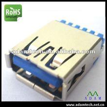 Black USB 3.0 AM connector A Type 180 Dergee Solder Type