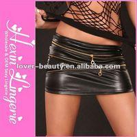 2012 Wholesale Sexy Leather Short Mini Dress