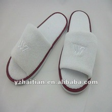 Open toe hotel terry slippers