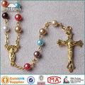 hecho a mano hefeng de colores de la perla deimitación cuentas de collar de rosario