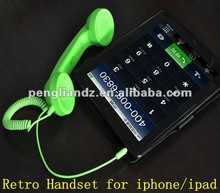 High Quality Retro Phone Handset Anti Radiation for iphone/ipad