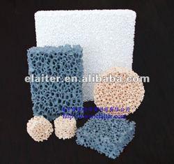 Al2O3/ Sic/ ZrO2/ MgO Ceramic foam filter (Material: Silicon carbide, Alumina, Zirconia, Magnesia)