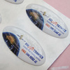 Clear Polyurethane Epoxy Sticker with full color printed on white vinyl