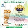 Canton Fair acetoxy construction silicone sealant drums/tube 280ml/300ml