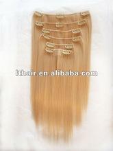 2013hot selling clips in hair extension for beautiful girl