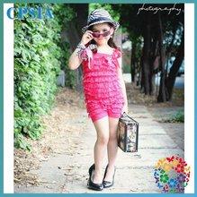 الصين رخيصة ملابس اطفال السروال القصير الدانتيل الوردي الساخن