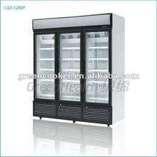 triple door refrigerator showcase