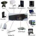 Econômico novo led projetores com DVD filme HD videogame home theater video game, Pc, Tv projetor