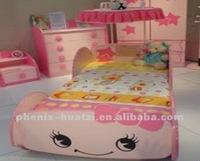 Beauty Flower Cartoon princess kids car bed