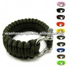 Colored Metal Shackle Survival Wrist Paracord