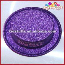Flat Brimed Cap In Gliter Purple In Bulk