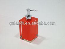 transparent acrylic resin bathroom setting, washroom accessories.