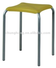 metal frame plastic cushion yellow chair