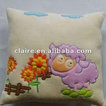 Plush animal cushion embroider cushion