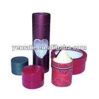Round cylinder blue purple cardboard paper red lipstick tube,custom lipstick tubes.black lipstick tube with heart window