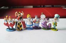 Alice in Wonderland Figure figurine Play Set PVC Cake Tooper 6PCS 1