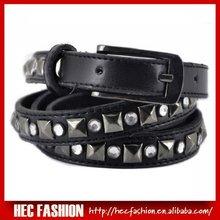Charm Skinny Belts with jewel pyramid studded belt Hec,SP28030
