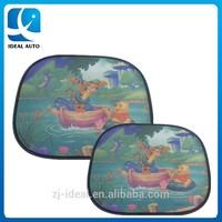 hot selling Nylon mesh side cartoon car sunshade curtain