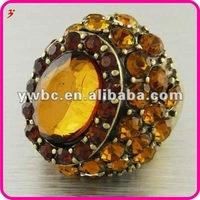 Full crystal elastic beads women stretch rings (R100947)