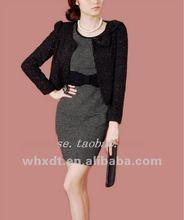 fashion design ladies coat long sleeve office wear 2014