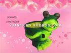 Ceramic outdoor green frog flower pot , garden decoration