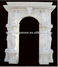 White Marble Carving Arch Door Frame