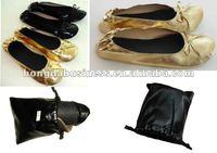 Pocket foldable ballerina shoes for women