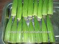 verde de alimentos okra congelada en el suministro a granel