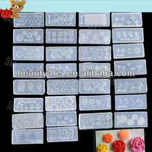 Hot Sale 30 PCS Acrylic Nail Mold For 3D Nail Art Decoration DIY Style