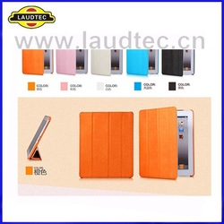 New Arrival Stand Colorful Leather Flip Case for iPad 3 2 4, Back Cover with Magnet Wake and Sleep Funtion Laudtec