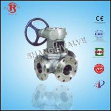 worm gear flanged ball valve