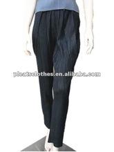 Black Pleats please long pants