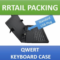 New Drop Ship 10.1 inch android keyboard case OEM Print your logo Wholesale Keyboard Case with Retail Packing