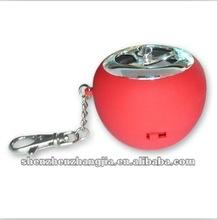 2012 apple shape USB recharging mp3 protable mini speaker