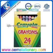 offer 3.5' 24 color pencil,kids color pencil crayon set