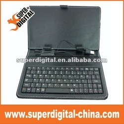 7 inch tablet pc Leather Case with Keyboard Touch Pen
