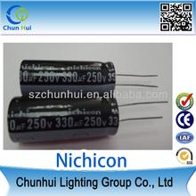 NICHON Aluminum electrolytic capacitors 330UF 200V 20% SNAP