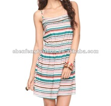 Abstract Stripes Dress CF0116