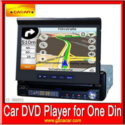 "China Factory 7"" 1 din car dvd player with bluetooth LCD screen USB/SD GPS optional"