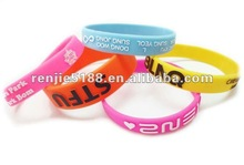 Newest arrval Bright Color Fashion Silicone Rubber Bracelets 2012