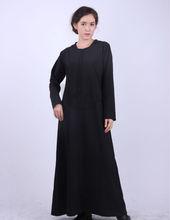 2012 Trendy New Design Muslim Abaya, Black High Quality Abaya with Hood KSH W086