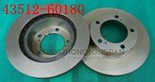 high quality auto car brake disc/disc brake pads price for Land Cruiser/Lexus Oem 43512-60180