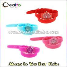 2012 Fashion Sport Multicolor Wrap Silicone Watch